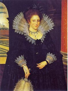 1611 Agnes Fermor attr to Marcus Gheeraerts the Younger (Flemish English painter, 1562–1635)