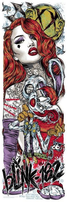 The Geeky Nerfherder: Cool Art: New Posters By Rhys Cooper: Roger Rabbit and Jessica Rabbit Rock Posters, Band Posters, Movie Posters, Nlink 182, Rhys Cooper, Jimi Hendricks, Arte Dope, Pop Art, Art Ancien