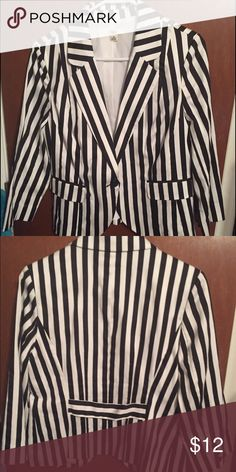 Black and white striped blazer Black and white striped blazer. No flaws. Only worn once to a convention. Cato Jackets & Coats Blazers