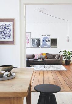 Eclectic Living Room - Eclectic - Living Room - New York Eclectic Living Room, Living Room Modern, Interior Design Living Room, Home And Living, Living Room Designs, Interior Decorating, Living Spaces, Bolia Sofa, Living Room New York