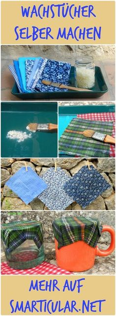Statt Frischhaltefolie: plastikfreie Wachstücher selber machen Cling film: blessing and annoyance at the same time. A better alternative are self-made oilcloths. Reusable, handy, made easy! Upcycled Crafts, Diy And Crafts, Dog Crafts, Upcycled Clothing, Summer Crafts, Easy Crafts, Easy Diy, Diys, Craft Projects