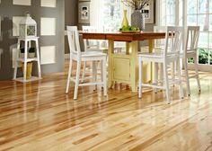 Table/island storage with seating for 6 Lumber Liquidators, Natural Flooring, Living Spaces, Living Room, Real Wood, Birch, Hardwood Floors, Sweet Home, New Homes
