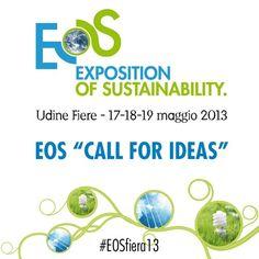 Prorogato al 31 marzo il termine per aderire al 'Call for ideas' della fiera #Eosfiera13 per artisti e designer #green  #art #greenart