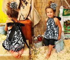 <3<3<3! so cute! i don't usually like the pillow case dress look but this is too cute! my nieces would look great in it!