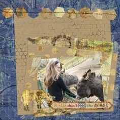 Don't Feed The Animals by Ania Archer. Digital scrapbooking layout made with Animal Kingdom - Bundle by Melo at Pixel Scrapper