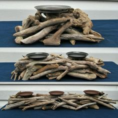 Beautiful driftwood candle holders in all sorts of designs!