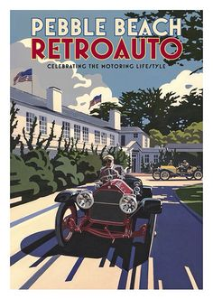 Car Vintage Poster, available at 45x32cm and 50x70. This poster is printed on matt coated 350 gram paper.  Also available on mat Blockmount on 50x70cm.