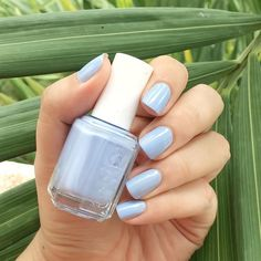 nothing says summer on the ocean like this sugar-sweet atlantic 'saltwater blue' mani that stretches on and on.