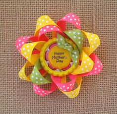 Happy Mother's Day Hair Bow Mother's Day Hair by RosieMaeBowtique, $4.50
