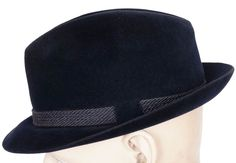 """This is a vintage mens fedora hat made by Dobbs Fifth Avenue New York. The hat is made in a classic German mountain style with a 1 7/8"""" brim that can be posed either up or down depending on preference"""
