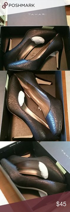 Tahari Pumps... Black snake print tahari Pumps NEW... Tahari Shoes Heels