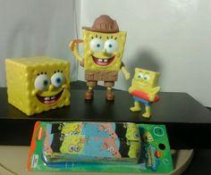 Spongebob Squarepants Friend Foe Answer Pants + CakeToppers/Toys & New Shoelaces #viacomGMINickelodeon
