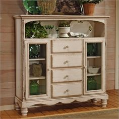 antique hutches and buffets | buffet tables sideboards wilshire antique white buffet cabinet by ...