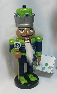 https://flic.kr/p/Nd226Q | 6 Inch Nutcracker with staff | Cell phone cameras just don't do as good a job as my Canon Digital SLR and Macro lens, lol....but you get the gist of what this looks like. :-)