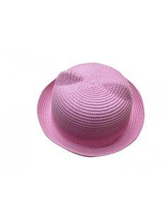 Women s Cat Ear Derby Bowler Straw Hat Sun Summer Beach Cap Pink -  CU11KN1JMTN. Women s HatsSun HatsCaps ... 11840355d934