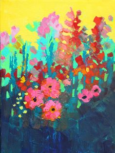Summer Flowers Original Still Life Floral Painting