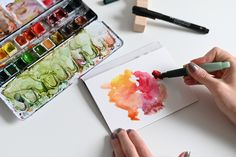 Faber Castell Pitt, Diy Crafts, Watercolor, Ethnic Recipes, Handmade, Food, Inspiration, Watercolors, New Inventions