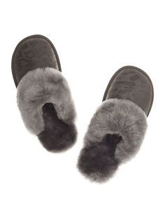 Just Sheepskin Duchess mule Slippers Plain Women Suede and Sheepskin. Suede and Sheepskin