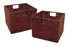 Winsome Wood Leo Storage Baskets, Set of 2,Walnut Finish ... https://www.amazon.com/dp/B000NPSJ1O/ref=cm_sw_r_pi_dp_8nTzxb1D8Q1M3