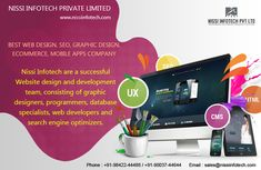Nissi Infotech are a successful #website #design and #development team, consisting of  #graphic designers, #programmers, database specialists, #web #developers and search engine optimizers(#SEO). Web Design India, Best Web Design, Website Development Company, Design Development, Web Design Services, Seo Services, Responsive Web Design, Seo Company, Graphic Designers