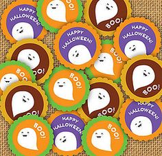 Free Printable Halloween Stickers or Tags