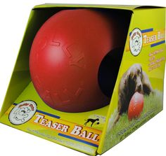 """The Teaser Ball™ - 4.5"""" - RED Dog Toy #fortailsonly Stacie Marshman, Founding Independent Handler, Microchip #FH100 www.fb.com/paradisepetboutique"""