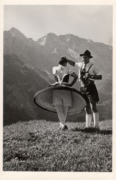 vintage photo, Schuhplattler Dance ( handclapping) Germany ~ another great idea for wall art