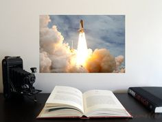 Final Space Shuttle Atlantis Launch x Poster - Science Astronomy Wall Art - A Window on the Universe series Space Shuttle, Atlantis, Astronomy Posters, Finals, Universe, Product Launch, Science, Wall Art, Nasa