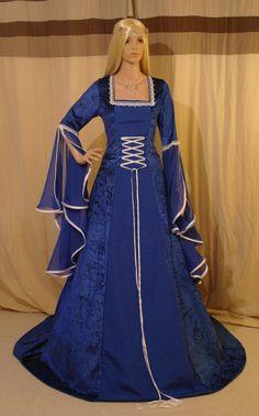 Vestido medieval handfasting vestido vestido de por camelotcostumes