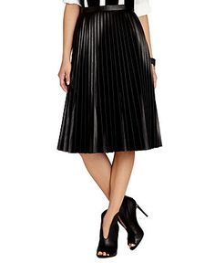 139bae33ac BCBGMAXAZRIA Skirt, Pleated A-Line Midi & Reviews - Skirts - Women - Macy's