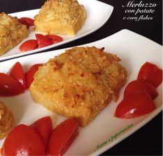 Merluzzo+con+patate+e+corn+flakes