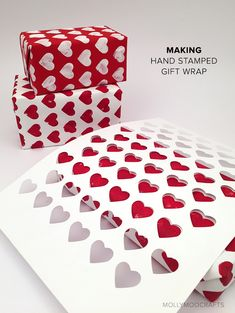 Make your own gift wrap and cards with DIY stencils and paint // MollyMooCrafts.com