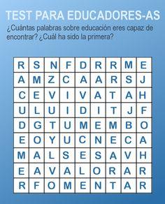 Actividades para Educación Infantil: Test para educadores-as