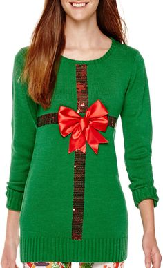 ransom long sleeve christmas tunic sweater find it on donde fashion ugly christmas sweater