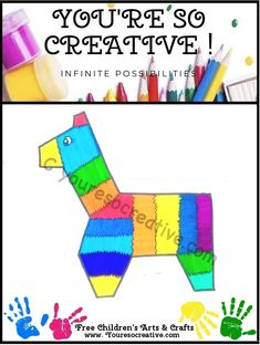 Pinata Diy Crafts To Do, Holiday Crafts For Kids, July Crafts, Easy Crafts For Kids, Arts And Crafts Projects, Art For Kids, Christmas Crafts, Fathers Day Crafts, Valentine Day Crafts