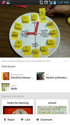 Having students make these clocks is sure to foster understanding with telling time!