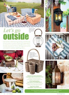 Let's go outside ~ Shop locally for al fresco dining accessories and stylish outdoor lighting ideas... #locallife #Farnham #Surrey #homes #gardens #alfresco #accessories #lighting #inspiration #ideas