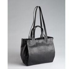BCBGeneration black faux leather multi handle shopper tote