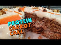 ▶ PROTEIN Carrot Cake with PROTEIN Frosting Recipe - YouTube