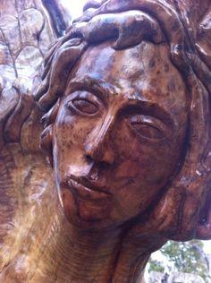 Angel , olive wood