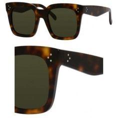 ccd3972eac7 Celine 41076 S Sunglasses 005L Havana (1E Green Lens) 51 22-