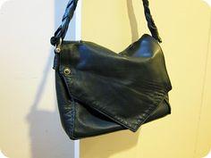 lemmemakeit: upcycled leather jacket tote bag