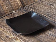 Leather Valet Tray #Dark Brown  by ES Corner www.es-corner.com