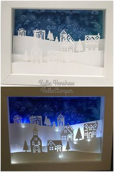 Hearts Come Home and Homeland Greetings bundle. Ikea Ribba frame with glass and mount removed, a watercolor background (with some salt), whisper white card and lots of foam strips, and add some led fairy lights.