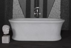 Marble baths from our Palazzo range. Marble Bath, White Marble, Palazzo, Bathtub, Bathrooms, Range, Standing Bath, Toilets, Bath Tub