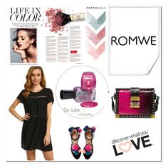 """ROMWE contest"" by angelabela ❤ liked on Polyvore featuring MCM"