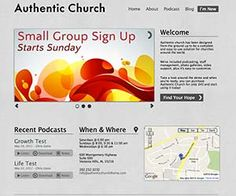 Authentic Church is a hand-crafted theme for WordPress designed to serve churches. We've included some great features to help churches both large and small get the most out of their websites.
