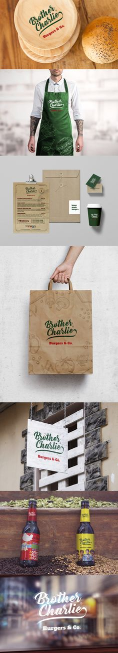 Brother Charlie - Burger & Co.  Logotipo + Identidade visual. Rodrigo Villa