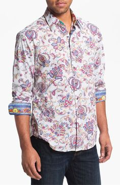 c9bc8dce Robert Graham 'Chitwood' Regular Fit Sport Shirt available at #Nordstrom Robert  Graham,