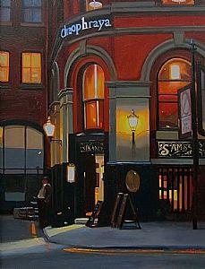 "A Painters Retreat, Sams Bar, Manchester by Michael John Ashcroft Oil ~ 20"" x 15"""
